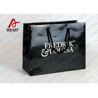 Wholesale Black Glossy Lamination Custom Printed Retail Bags , Modern Kraft Paper Shopping Bags from china suppliers