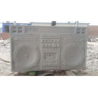 Buy cheap White marble boombox sculpture,Customized marble sculpture for exhibition,China stone carving Sculpture supplier from wholesalers
