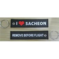 Wholesale I love Sacheon Remove Before Flight Custom Name Tag Embroidery Key Chain from china suppliers