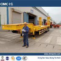 Wholesale cimc tridem axle semi low bed trailer 60 tons from china suppliers