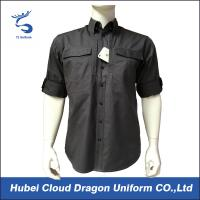 Wholesale Custom Short Sleeves Military Tactical Shirts With Two Side Chest Pockets from china suppliers