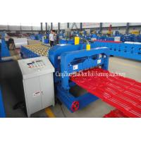 Wholesale Color Roofing Glazed Tile Roll Forming Machine With Hydraulic Press Cutting from china suppliers