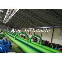 Wholesale 100m Long Double Lane Inflatable Slip N Slide Green Blue With Logo Printing from china suppliers
