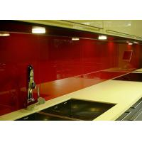 Wholesale Red Painted Glass Backsplash Toughened Custom Pattern Heat Resistance from china suppliers