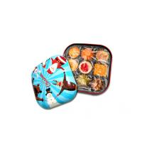 Wholesale Colorful Candy Tin Containers With Small Dimension And Xmas Style , 0.23mm Thickness from china suppliers
