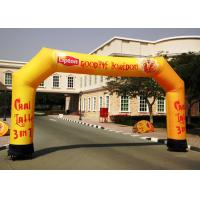 Wholesale Large Yellow Inflatable Arches , Inflatable Archways 9m Span By 4m High from china suppliers