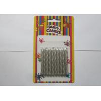 Wholesale Decorative Silver Birthday Candles / Spiral Birthday Cake Candles No Somke from china suppliers