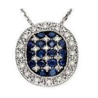 Wholesale Sapphire & Diamond Pendant from china suppliers