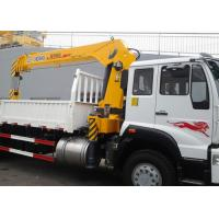 Buy cheap 10 Ton Telescopic Boom Truck Mounted Crane,  With 13.5m Max Lifting height For Construction from wholesalers