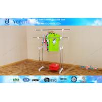 Wholesale Scalable Standing Height Clothes Display Rack With Dual Rods from china suppliers