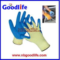 Wholesale 10G blue latex palm coated glove with polyester liner from china suppliers
