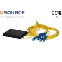 Wholesale Yellow FTTH Couplers 1*9 Fiber Optic Splitter CATV Splitter Optical Fiber Distribution Box from china suppliers