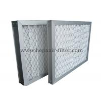 Wholesale Disposable White Pleated Panel Air Filters Dust For Ventilation System , Low Resistance from china suppliers