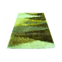Wholesale Green Polyester Patterned Shaggy Rugs, Washable Anti-slip Fluffy Rug Customized from china suppliers