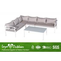 Quality Fashion Patio Seating Sets Aluminum Corner Sofa Sets With Alum Material for sale