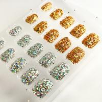 Wholesale Artist Gold / Silver Glitter Fake Nails Full Cover Party False Fingernails from china suppliers