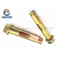 Wholesale Carbon Steel Yellow Zinc Plated Concrete Anchor Bolts bolt Sleeve Anchors with Flange Nut and Washer from china suppliers