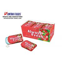 Wholesale Sugar Free Sour Strawberry Candy With Slide Tin Box Tooth Friendly from china suppliers