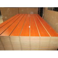 Wholesale Melamine Faced Grooved Slotted MDF Board with Wooden Grain , Red , Green Customized Color from china suppliers
