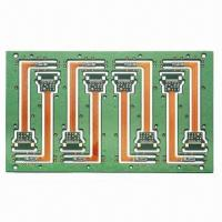 Quality 4-layer Rigid-flex PCB for Industrial Equipment, with 0.25mm Minimum Hole Size for sale