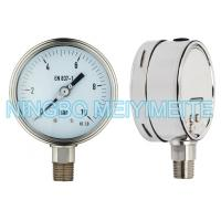 Wholesale Oil Fillable SS Pressure Gauge Instrument With Tempered Glass / Safety Glass from china suppliers
