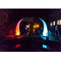 Wholesale 4m Ivory Shaped Inflatable Cone RC LED Lighted Design For Decoration from china suppliers