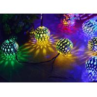 China Morocco Ball Solar LED String Lights , Colorful Solar Party String Lights on sale