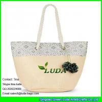 Wholesale LUDA new fashion women straw summer shoulder tote shopping beach bag purse handbag from china suppliers