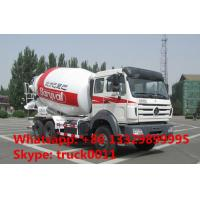 China North Benz 340hp 10m3 concrete mixer truck for sale, high quality and best price Beiben 10m3 truck mounted mixer drum on sale