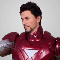 Quality superman Sculpture Celebrity Wax Statues Of  ironman For cinema decoration for sale