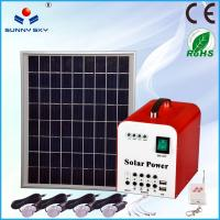 Wholesale DC portable mini solar electric generator 10w solar lighting kit with home solar power system TY050A from china suppliers