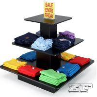 Wholesale Square  Black Tiered Display Table with 3 Shelves from china suppliers