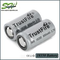 Wholesale Trustfire Rechargeable 18350 Mechanical Mod Battery ICR 1200mah for Ecig MOD from china suppliers