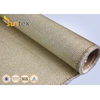 Heavy Duty Vermiculite Coated Fiberglass Industrial Welding Fire Blanket Roll 800 C Resistance