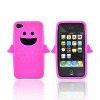 Wholesale Thicker and Touch Comfortable Silicone Cases for Apple's iTouch, with Bracket for Convenience from china suppliers