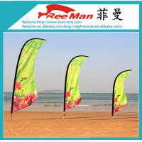 Wholesale Aluminum And Fiberglass Pole Beach Flag Banner , Outdoor Teardrop Flags from china suppliers