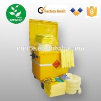 Quality ISO 9000:2008 100% PP yellow chemical haz-chem Spill Control emergency spill kits for sale