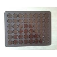 Wholesale Big Durable Silicone Baking Mat , 48 Holes Silicone Macarons Mat Debossed Logo from china suppliers