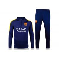 Wholesale Soccer Team Tracksuits Comfortable Men's Football Training Suit Barcelona Dark Blue from china suppliers