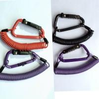 Quality Purple Motorcycle Helmet  Adjustable Cable Lock Combination PIN Locking Carabiner for sale