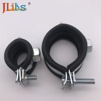 Quality Carbon Steel / Stainless Steel Galvanised Tube Clamps , Thickness 1.8-2.0mm for sale