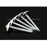 Wholesale DIN Galvanised Painted Roofing Nails Umbrella Head Ring Shank Strong Grip from china suppliers