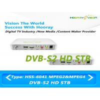 Wholesale White Terrestrial Set Top Box DVB S2 HD Satellite Receiver With USB 2.0 Port from china suppliers