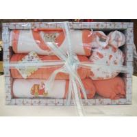 Wholesale All Cotton dyeing New Born Baby Christening Gift Sets with Baby Wear and Socks from china suppliers