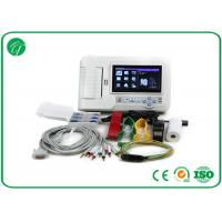 China Touch Screen Six Channel Portable ECG Machine with Software Electrocardiogram Color on sale