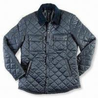 Wholesale Men's Quilted Jacket with Inner Zipper Pocket, Made of 100% Polyester, Available in Various Colors from china suppliers