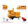 Buy cheap Double - shafts Concrete Mixer Pump Trailer Hopper Capacity 800L from wholesalers