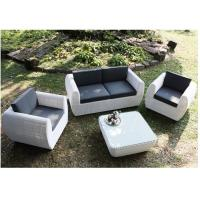 White Weatherproof Small 4 Piece Rattan Garden Set Indoor