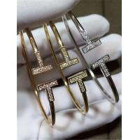 Wholesale Tiffany T series Bracelet 18k gold white gold yellow gold rose gold diamond  Bracelet from china suppliers