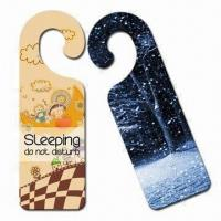 Wholesale Door Hangers, Made of PVC, PP and ABS with 0.3 to 1.0mm Thicknesses, Various Artworks Available from china suppliers
